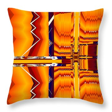 Throw Pillow featuring the digital art Native Abstract by Fran Riley