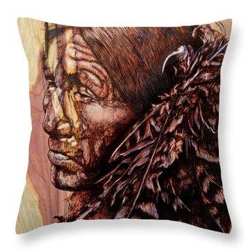 Native Throw Pillow by Amanda Hukill