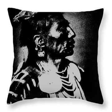 Native American 2 Curtis Throw Pillow by David Bridburg