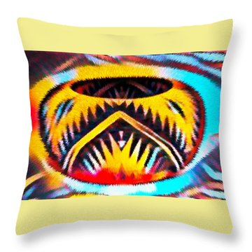 Native American Basket 1 Throw Pillow