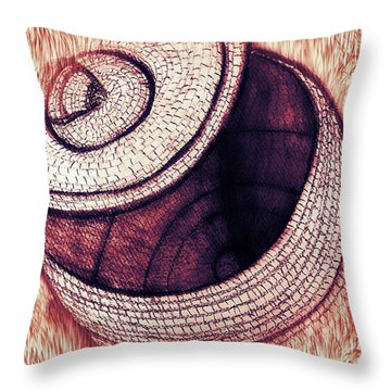 Native American Basket 2 Throw Pillow