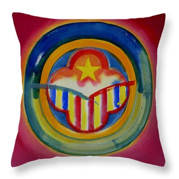 Native American Throw Pillow by Charles Stuart