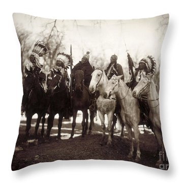 Native American Chiefs Throw Pillow by Granger