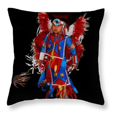 Native American Dancer Throw Pillow