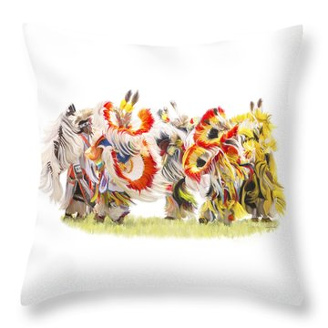 Native Color In Motion Throw Pillow