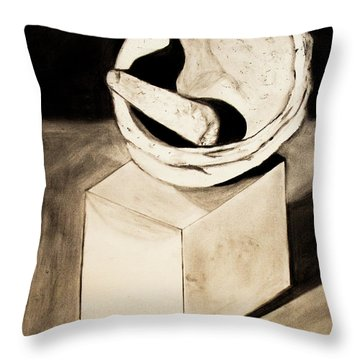 Native American Grinding Stones Throw Pillow