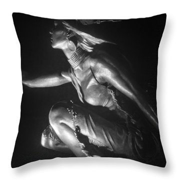 Native American Night Throw Pillow