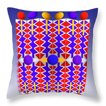 Native American Poster Throw Pillow by Charles Stuart