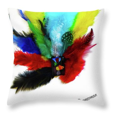 Native American Tribal Feathers Throw Pillow
