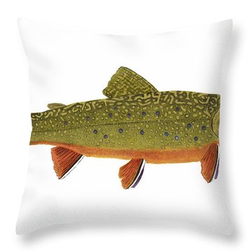 Native Brook Trout Throw Pillow