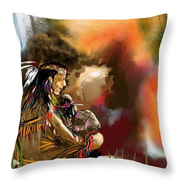 Native Care Throw Pillow