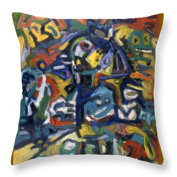 Native Colourz Throw Pillow