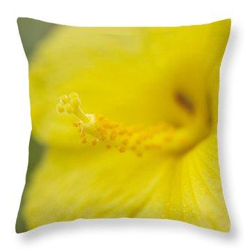 Native Hawaiian Yellow Hibiscus Throw Pillow