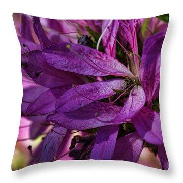 Native Long Petals Throw Pillow
