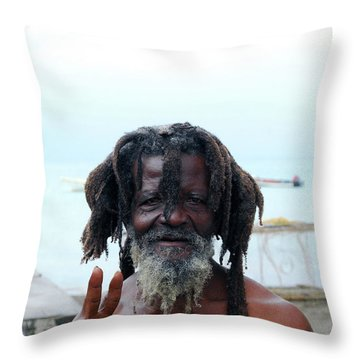 Throw Pillow featuring the photograph Native Man by Gary Wonning