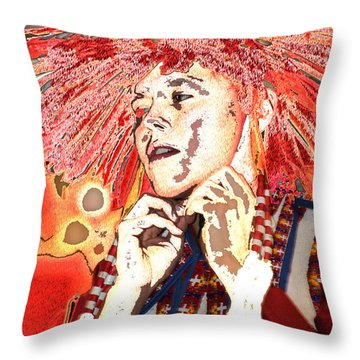 Native Prince Throw Pillow