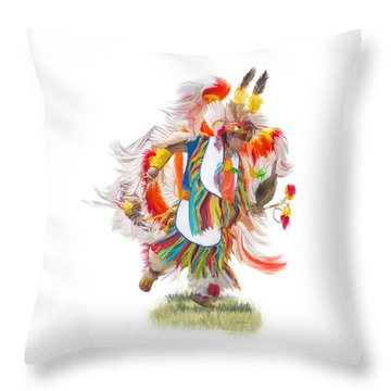 Native Rhythm Throw Pillow