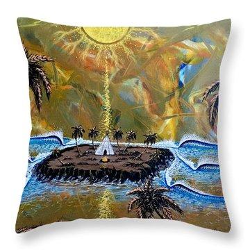 Native Sunset Dream Throw Pillow