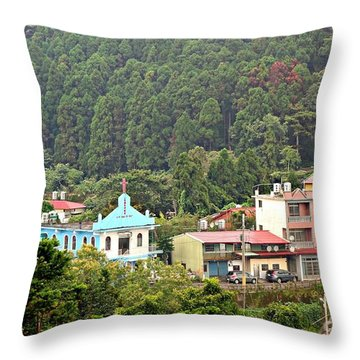 Throw Pillow featuring the photograph Native Village In Taiwan by Yali Shi