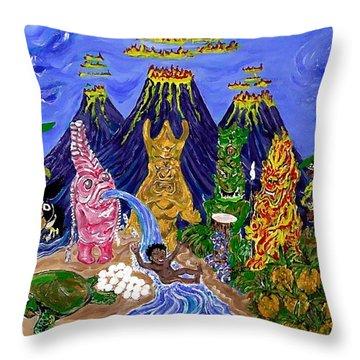 Nativi-tiki Throw Pillow