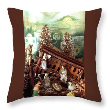 Nativity Of Our Lord Throw Pillow