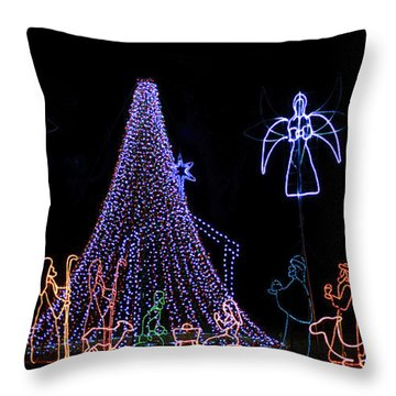 Nativity Scene Throw Pillow by Kenneth Albin