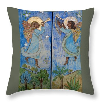 Nativity Triptych Front Throw Pillow