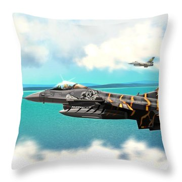 Nato Belgian Air Force 31 F16  Throw Pillow by John Wills