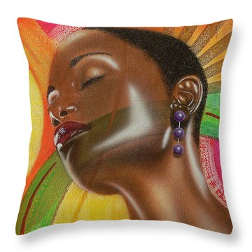 Natural 1 Throw Pillow by Fred Odle