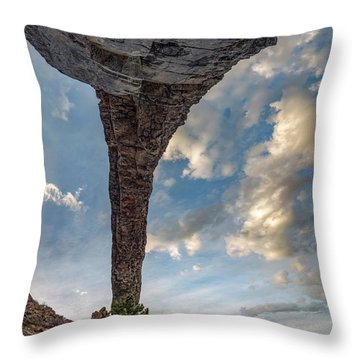 Natural Arch 2 Throw Pillow by Leland D Howard