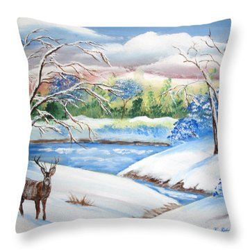 Natural Beauty Throw Pillow by Luis F Rodriguez