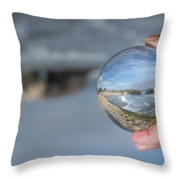 Throw Pillow featuring the photograph Natural Bridge And The Ball by Lora Lee Chapman