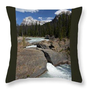 Natural Bridge Throw Pillow