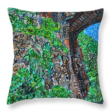 Natural Bridge Throw Pillow by Micah Mullen