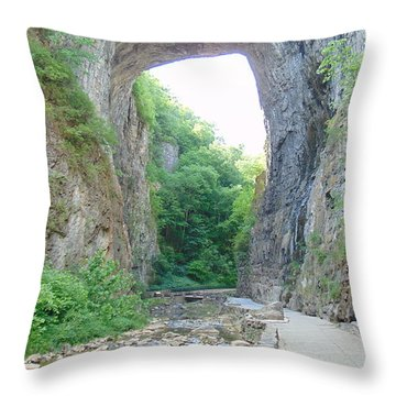 Natural Bridge Virginia Throw Pillow by Charlotte Gray