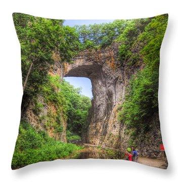 Natural Bridge - Virginia Landmark Throw Pillow