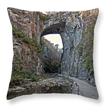 Throw Pillow featuring the photograph Natural Bridge Virginia by Suzanne Stout