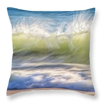Natural Chaos, Quinns Beach Throw Pillow by Dave Catley