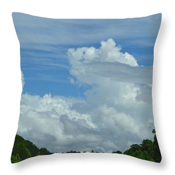 Natural Clouds Throw Pillow