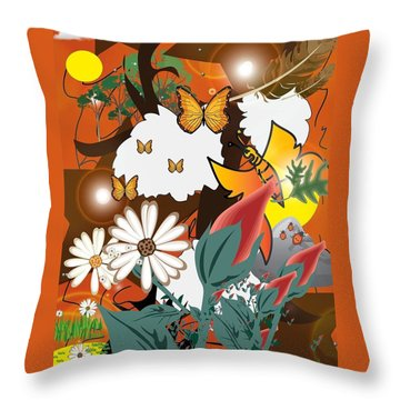 Natural Color Life Throw Pillow