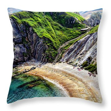 Natural Cove Throw Pillow