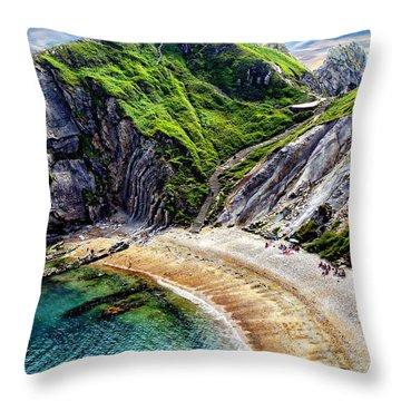 Natural Cove Throw Pillow