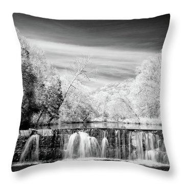 Throw Pillow featuring the photograph Natural Dam Film Noir by James Barber
