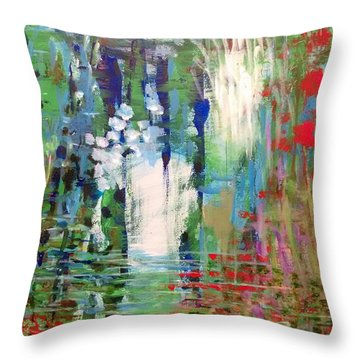 Natural Depths Throw Pillow
