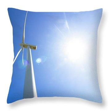 Natural Electricity Throw Pillow