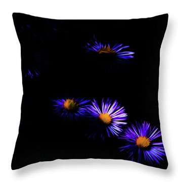 Throw Pillow featuring the digital art Natural Fireworks by Timothy Hack