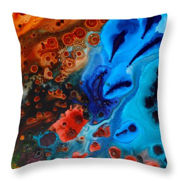 Natural Formation Throw Pillow by Sharon Cummings