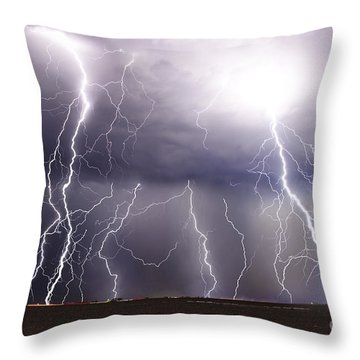 Natural Fury Throw Pillow