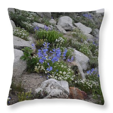 Natural Garden Throw Pillow