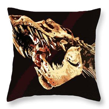 Natural History- T Rex Throw Pillow